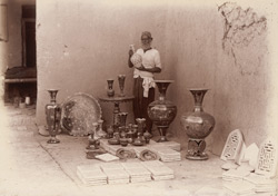 Matiari, Sindh. Potter Hala, with pottery